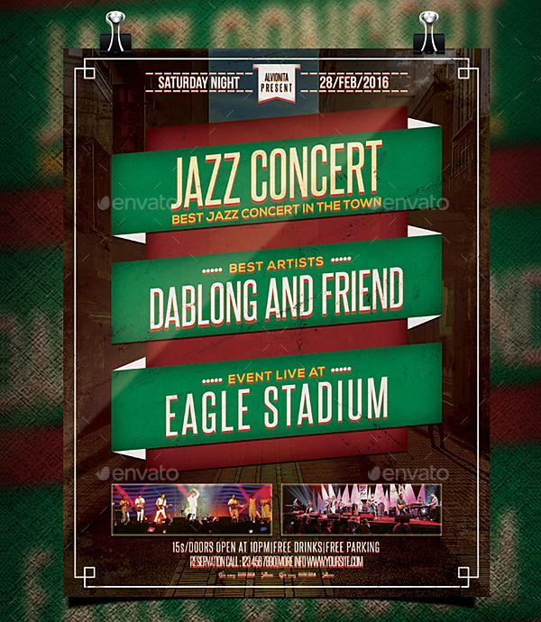 Unique Jazz Concert Flyer Template