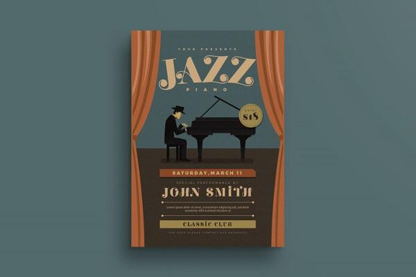 Jazz Piano Concert Flyer Template