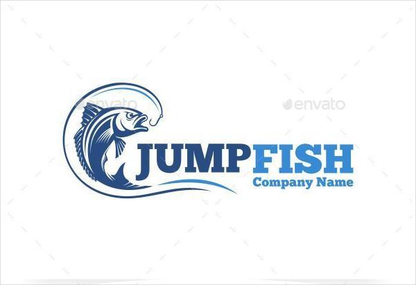 Jump Fish Company Logo Template