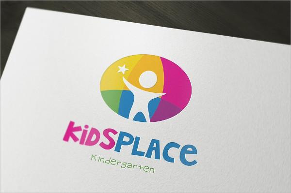 Kids Kindergarten Logo Template