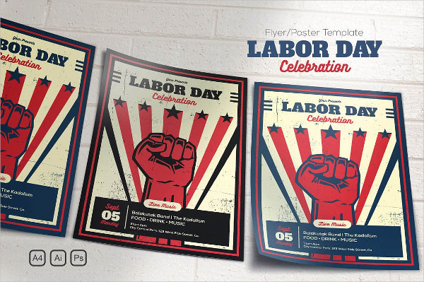 Labor Day Celebration Flyer or Poster Template