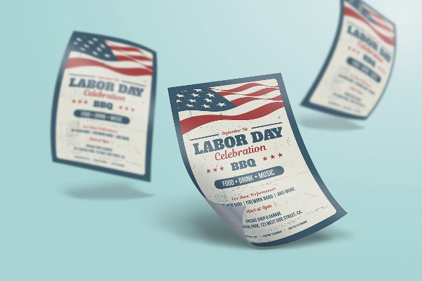 Labor Day Poster or Flyer Template