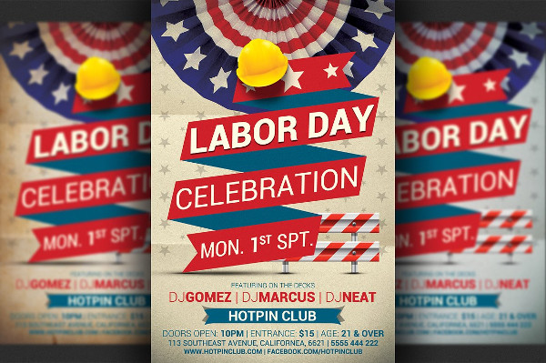 Labor Day Promotion Flyer Template