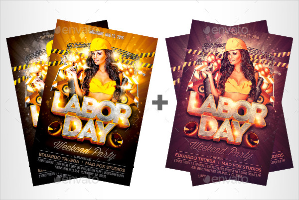 Labor Day Weekend Party Flyer Template