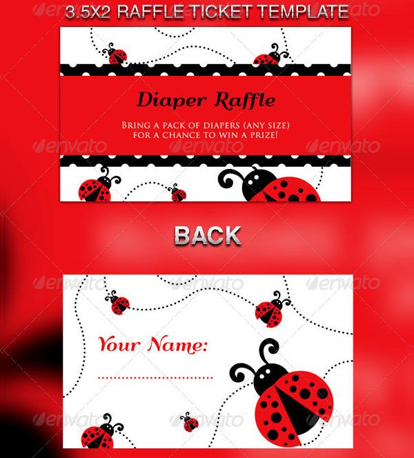 Lady Bug Baby Shower Invitation & Raffle Tickets