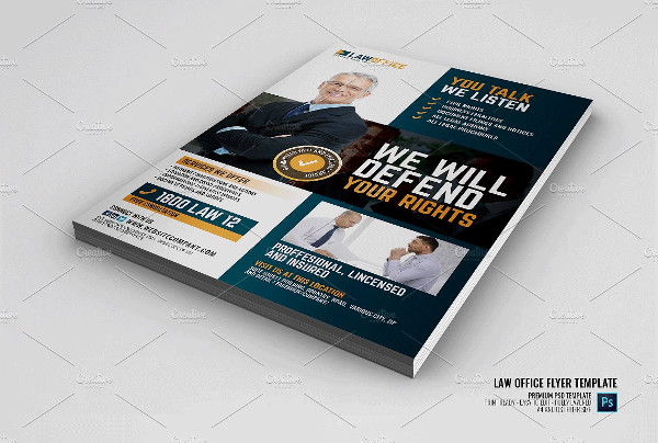 Law and Legal Office Flyer Template