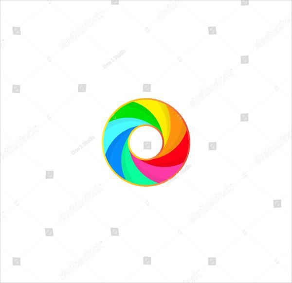 Lens Shutter Circle for Photography Logo