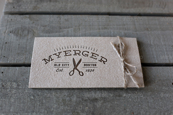 Letterpress Label Mockup Template