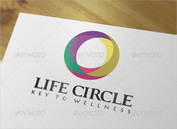 Life Circle Logo Template Photoshop