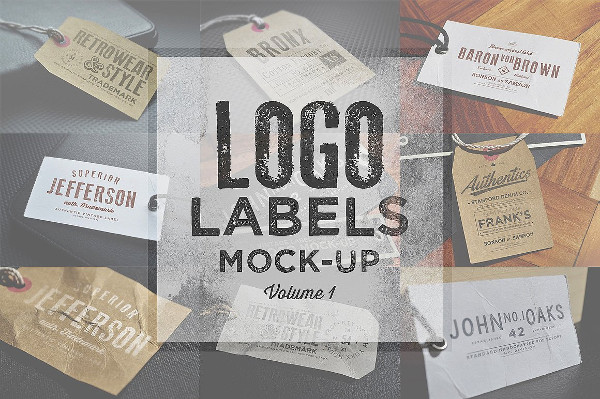 Logo Labels Showcase Mock-Ups