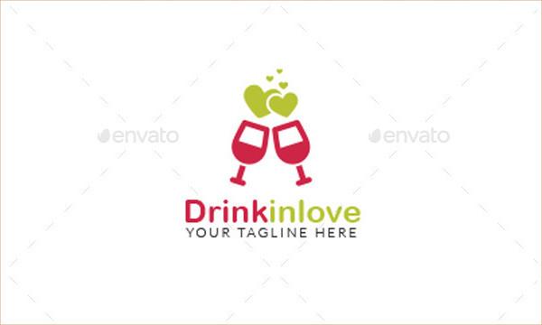 Love Drink Logo Template