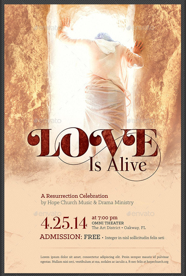 Love Is Alive Church Poster Template