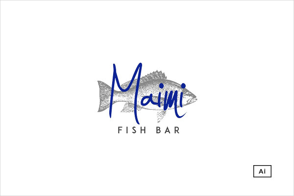 Maimi Fish Bar Pre-Made Logo Design