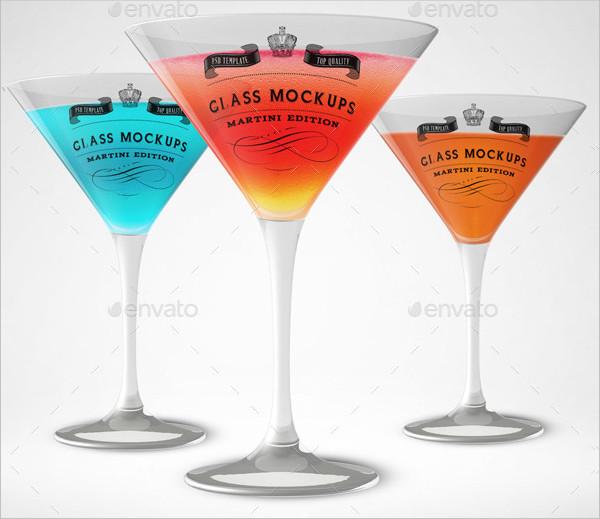 Martini Glass Mock-Up