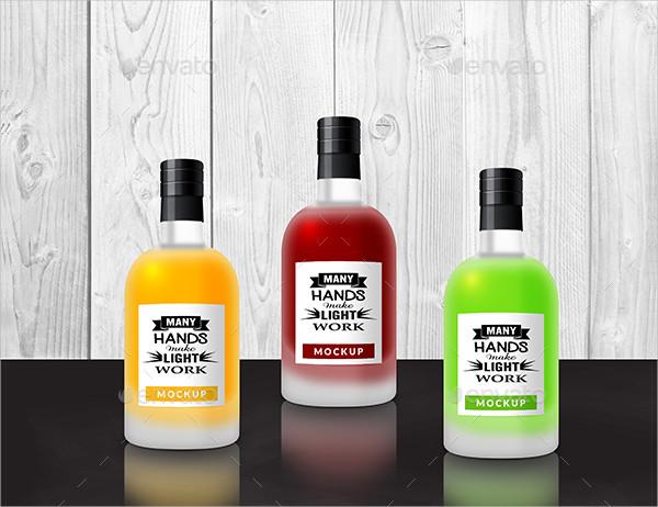 Matte Glass Bottles Mockup