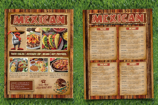 Mexican Food Menu Flyer Template