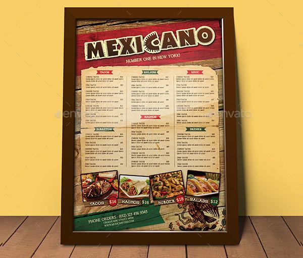 Mexican Food Menu Pack