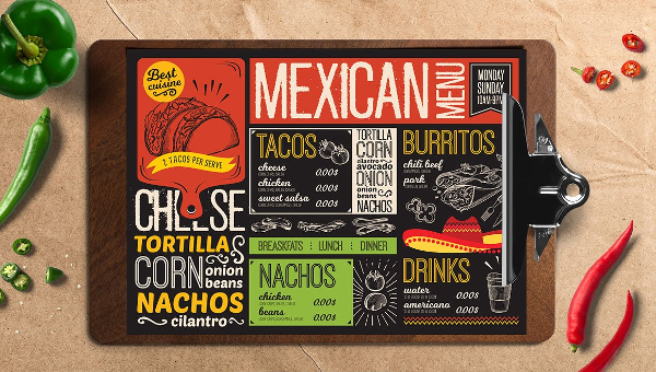 Mexican Menu Templates