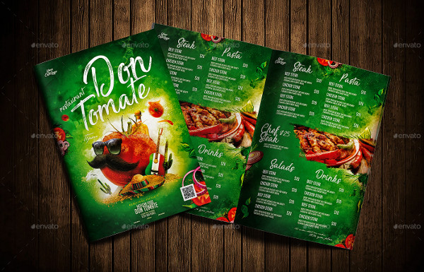 Fully Editable Mexican Cafe Menu Template