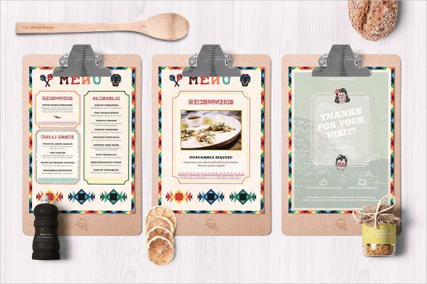 Mexican Style Food Menu Template