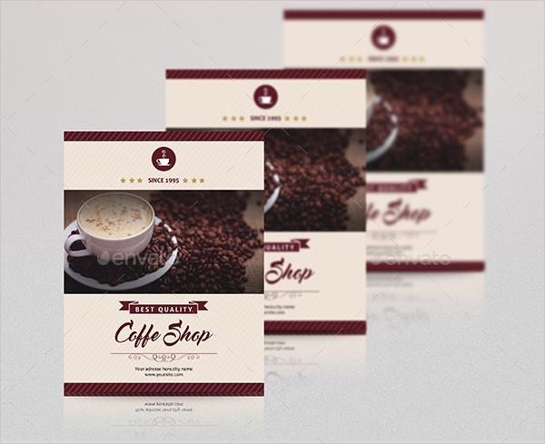 Minimal Coffee Shop Flyer Template