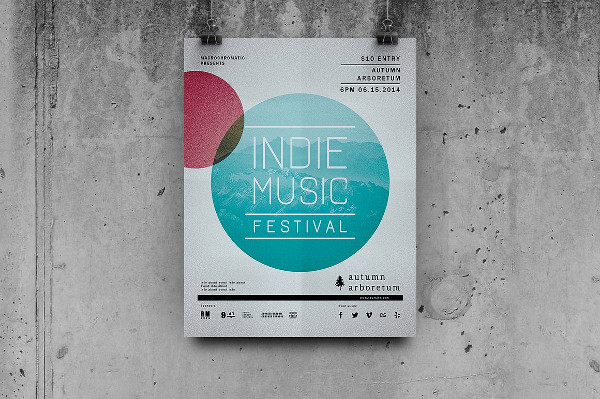 Minimal Concert Party Flyer Template