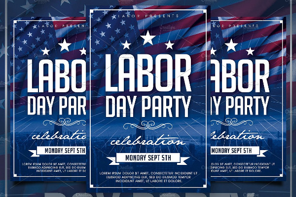Minimal Labor Day Flyer Template