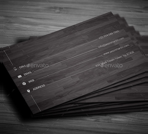 Minimal Wooden Business Card Template