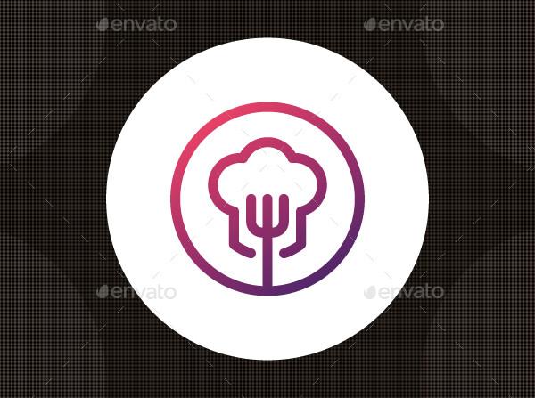 Modern Chef Circle Logo Template