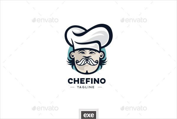 Modern Chef Head Logo Design