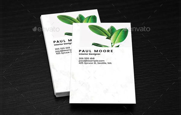 Modern Marble Business Card Design