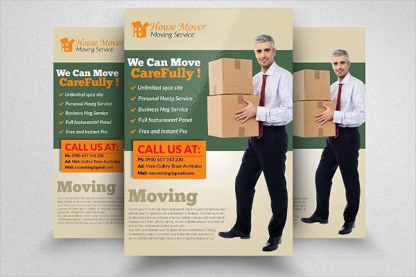 Unique Moving House Services Flyers