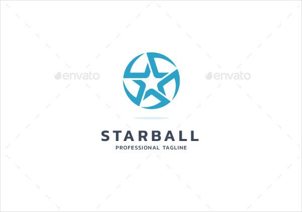 Modern Star Ball Logo Template
