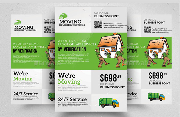 Simple Moving House Service Flyer Templates