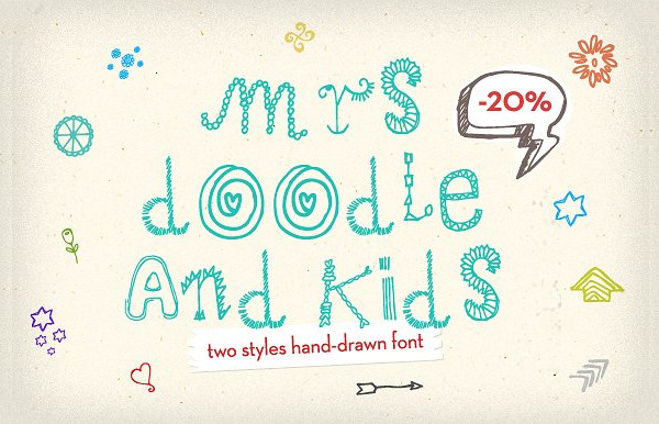 Mrs. Doodling Fonts
