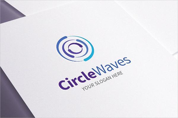 Multipurpose Circle Waves Logo Template