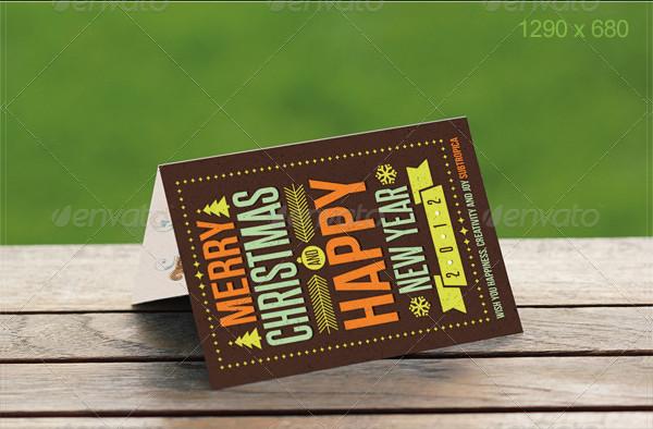 Natural Greeting Card Mockup Template