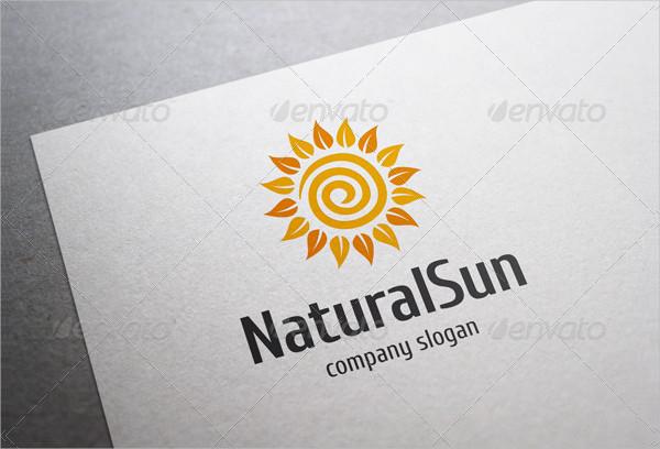 Natural Sun Travel Logo Template