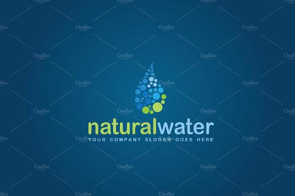 Natural Water Drop Logo Template