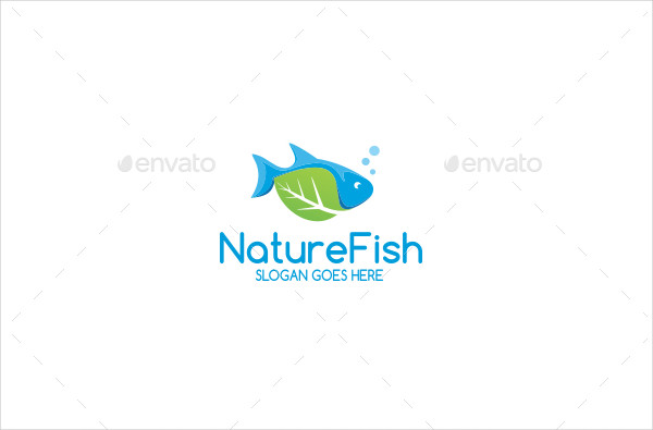 Nature Fish Shop Logo Template