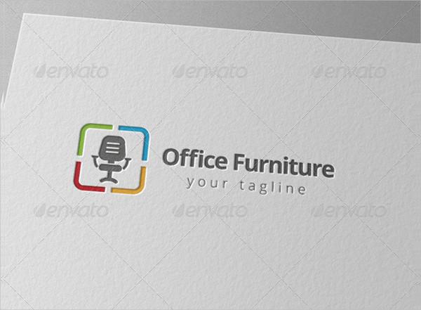 Office Chair Furniture Shop Logo Template