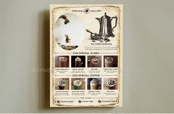 Old Coffee Shop Flyer Template
