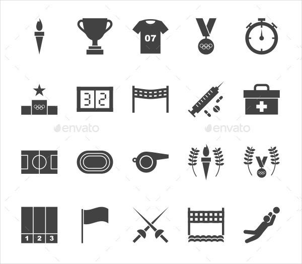 Olympics Glyph Icons