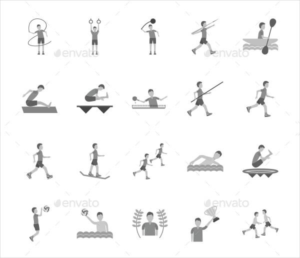 Olympics Greyscale Icons