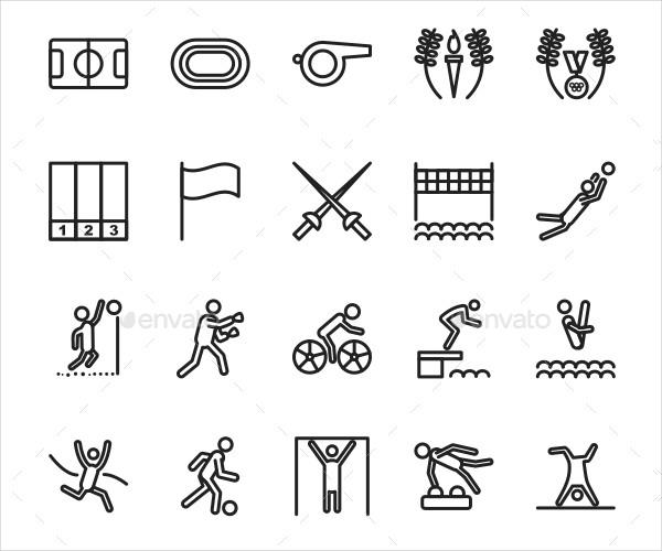 Olympics Line Icons