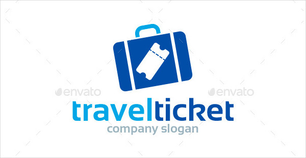 Online Travel Tickets Logo Template