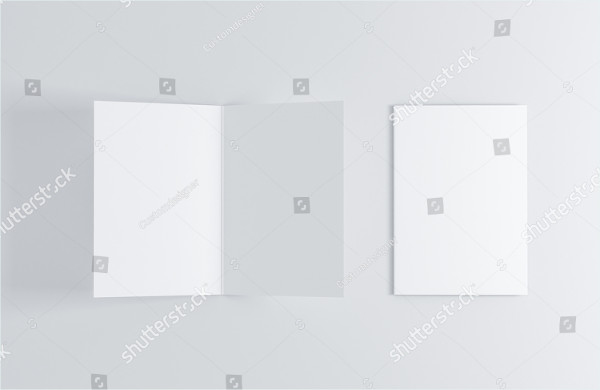 Opened & Closed Blank Greeting Card Mock-Up