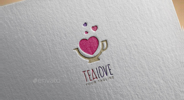 Branding Tea Love Logo Template