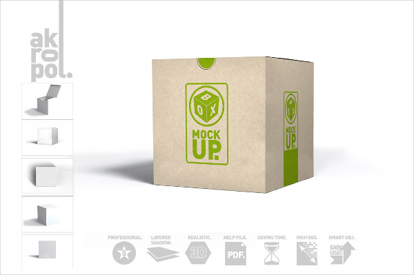 PSD Package Box Mockups