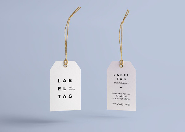 Paper Label Tag Mockup